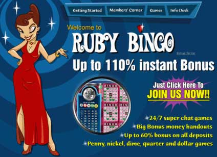 Ruby Bingo - Online bingo games with exceptional game play for online bingo!