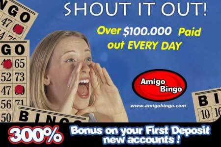 Amigo Bingo - Best online Bingo and huge bingo bonuses and prizes!