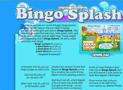 Bingo Splash - Win bonuses, jackpots and gifts at Bingo Splash!